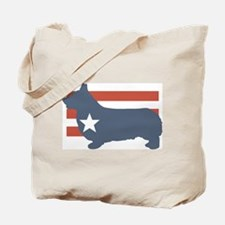 Patriotic Pembroke Welsh Corg Tote Bag
