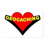 Geocaching Heart Postcards (Package of 8)