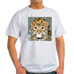Amur Leopard cub Ash Grey T-Shirt