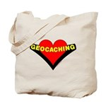 Geocaching Heart Tote Bag