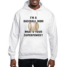 Baseball Mom Superhero Hoodie