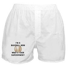 Baseball Mom Superhero Boxer Shorts