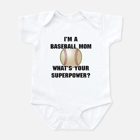 Baseball Mom Superhero Infant Bodysuit