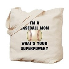 Baseball Mom Superhero Tote Bag