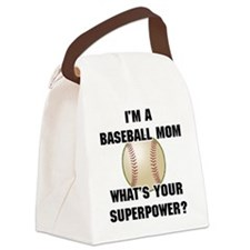 Baseball Mom Superhero Canvas Lunch Bag