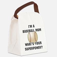 Baseball Mom Superhero Canvas Lunch Bag