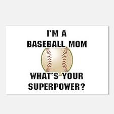 Baseball Mom Superhero Postcards (Package of 8)