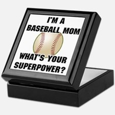 Baseball Mom Superhero Keepsake Box
