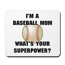 Baseball Mom Superhero Mousepad
