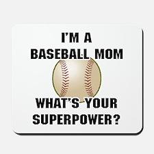 Baseball Mom Superhero Mousepad