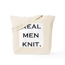 Real Men Knit Tote Bag