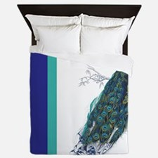Vintage peacock Queen Duvet