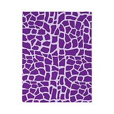 Purple giraffe print Twin Duvet