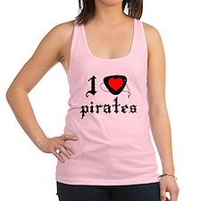 i heart patch pirates dark Racerback Tank Top