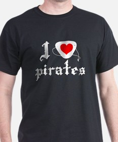 i heart patch pirates T-Shirt