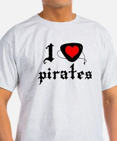 i heart patch pirates dark T-Shirt