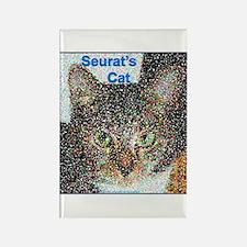Seurat's Cat Rectangle Magnet