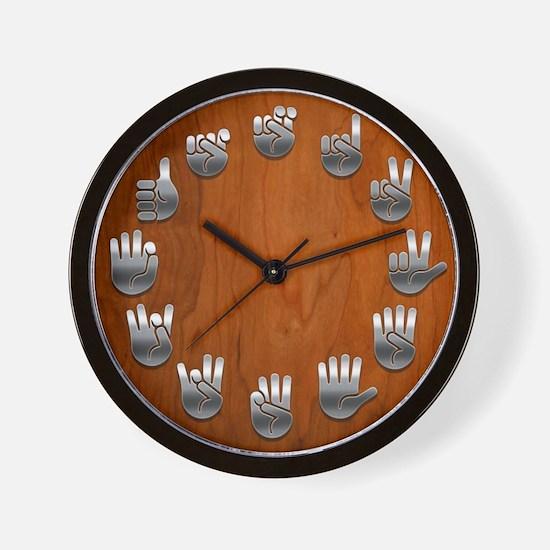 Wood Signed Wall Clock