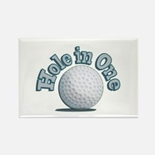 Hole in One (txt) Rectangle Magnet