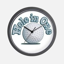 Hole in One (txt) Wall Clock