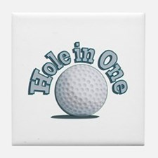 Hole in One (txt) Tile Coaster