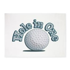Hole in One (txt) 5'x7'Area Rug