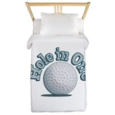 Hole in One (txt) Twin Duvet