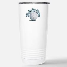 Hole in One (txt) Travel Mug