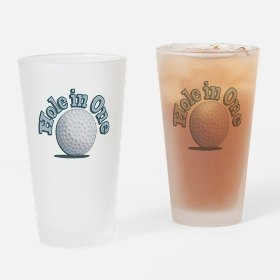 Hole in One (txt) Drinking Glass