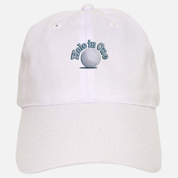 Hole in One (txt) Baseball Baseball Baseball Cap