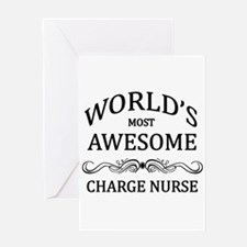 World's Most Awesome Charge Nurse Greeting Card
