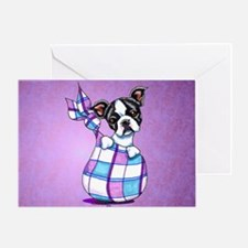 New Boston Puppy Greeting Card