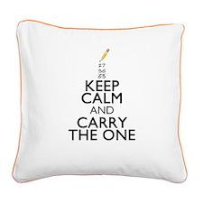 Keep Calm Math Square Canvas Pillow