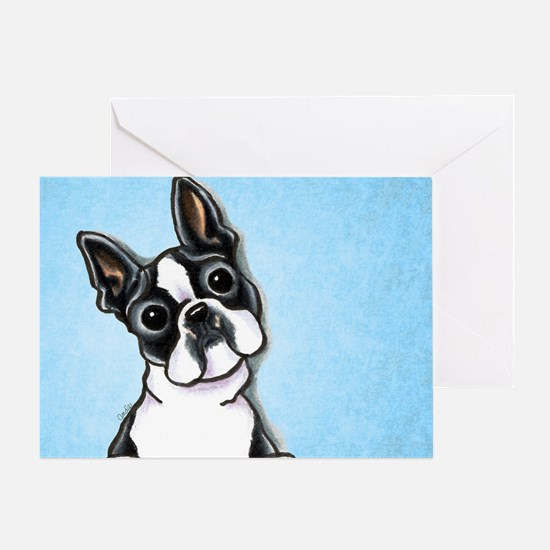 Boston Big Eyes Greeting Card