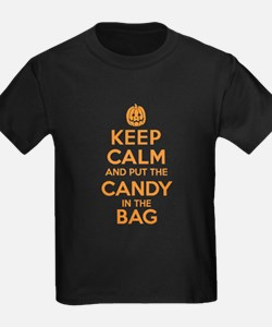 Keep Calm Candy Bag Halloween T-Shirts for T