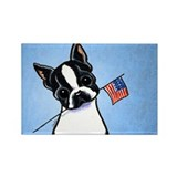 Flag boston terriers Magnets