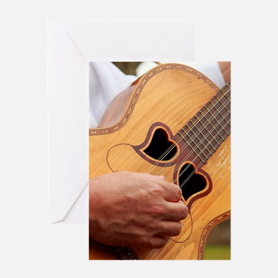 Typical Azores guitar Greeting Cards