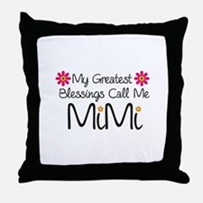 My Greatest Blessings Throw Pillow