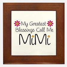 My Greatest Blessings Framed Tile