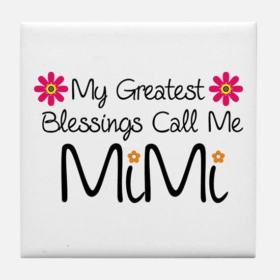 My Greatest Blessings Tile Coaster