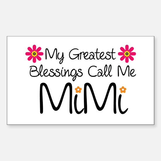 My Greatest Blessings Sticker (Rectangle)