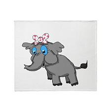 Ella Elephant Throw Blanket