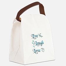 Live Laugh Love Canvas Lunch Bag