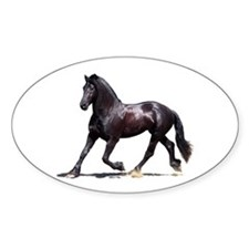 """Friesian 4"" Oval Decal"