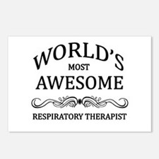 World's Most Awesome Respiratory Therapist Postcar