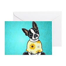 Sunny Boston Blue Greeting Card