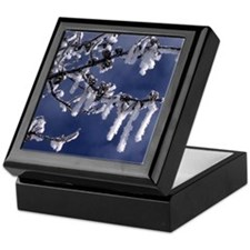 Winter Snow Crystals Keepsake Box