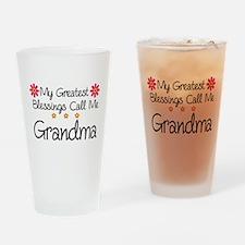 Blessings Grandma Drinking Glass