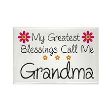 Blessings Grandma Rectangle Magnet