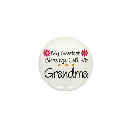 Blessings Grandma Mini Button